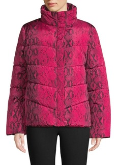 Betsey Johnson Metallic Colorblock Puffer Jacket