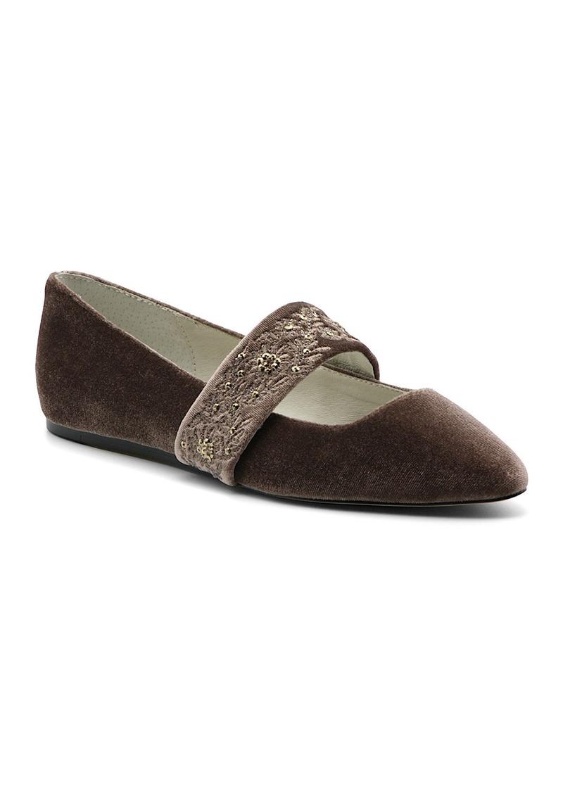 Bettye Muller Arietta Velvet Pointed Toe Flat
