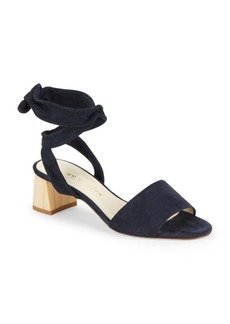 Bettye Muller Leather Block-Heel Sandals