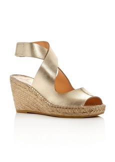 Bettye Muller Mobile Metallic Espadrille Wedge Sandals