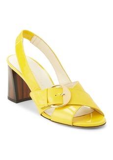 Bettye Muller Pepper Patent Leather Slingback Sandals
