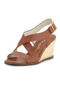 Bettye Muller Ponza Leather Espadrille Wedge Sandal