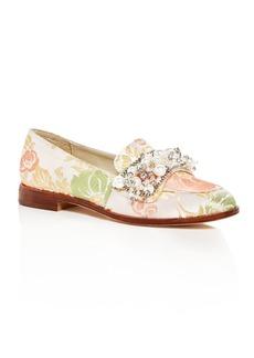 Bettye Muller Women's Revel Embellished Brocade Loafers