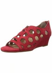 Bettye Muller Women's Sean Wedge Sandal red  Medium US
