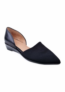 Bettye Muller Cage Pointed-Toe Demi-Wedge Flats
