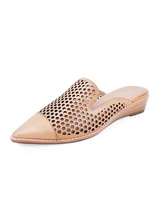 Bettye Muller Cara Perforated Leather Mules  Beige
