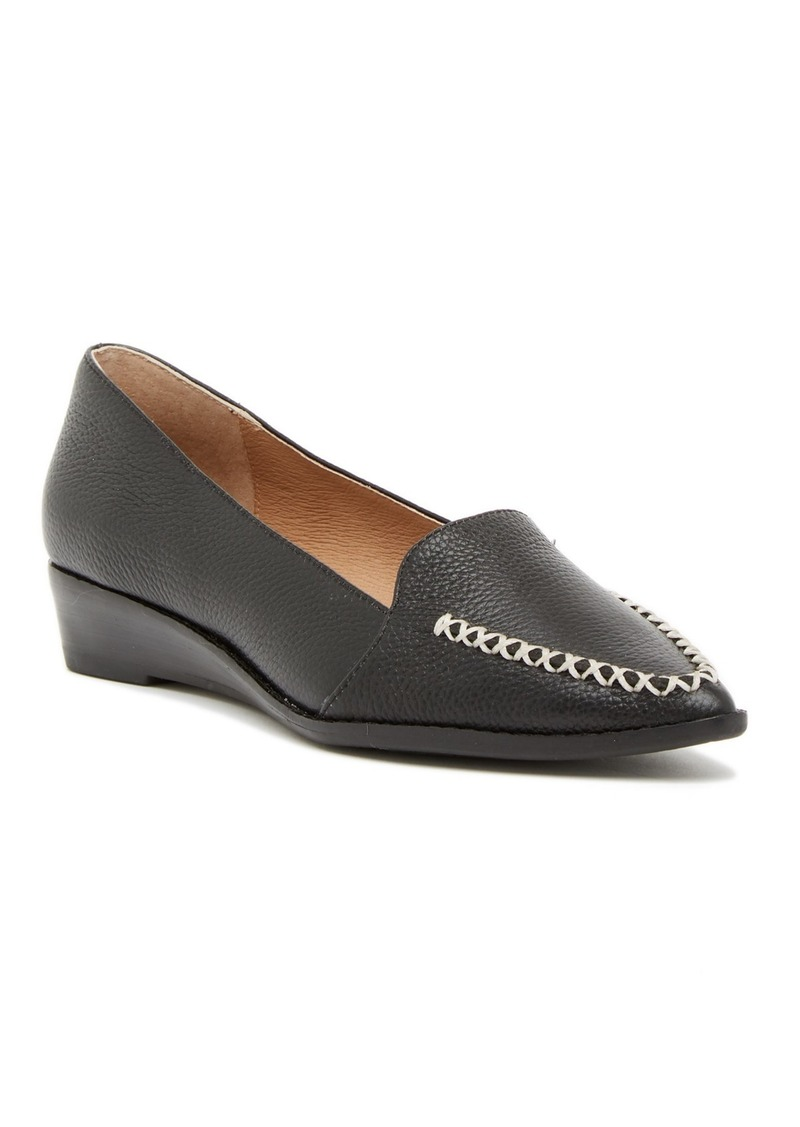 Bettye Muller Chet Leather Pointed Toe Loafer