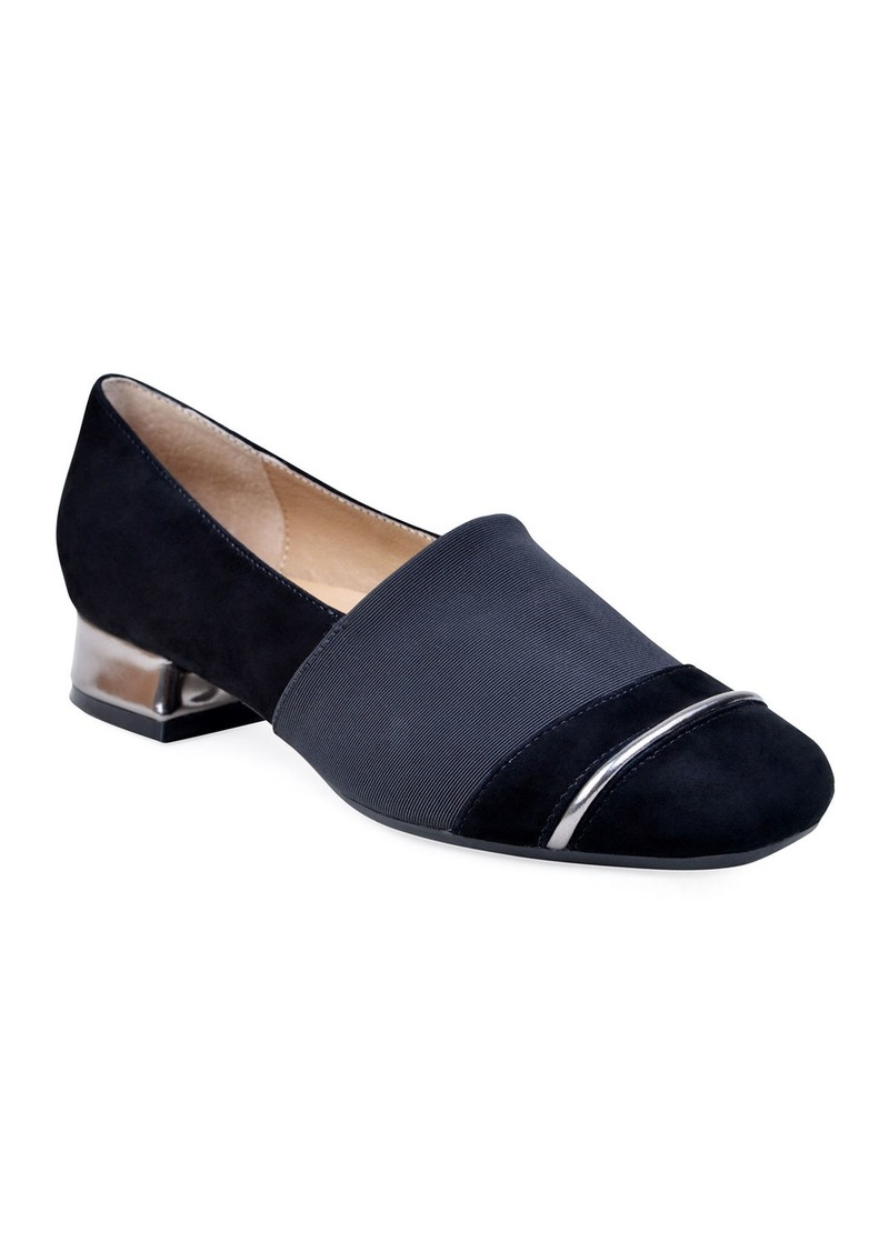 Bettye Muller Gobi Stretch-Suede Loafers