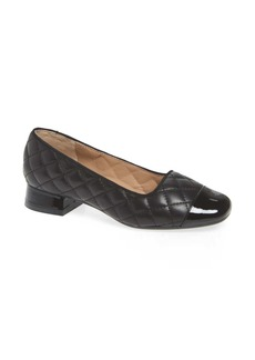 Bettye Muller Greta Quilted Leather Pump