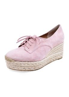 Bettye Muller Regine Suede Lace-Up Espadrilles  Pink