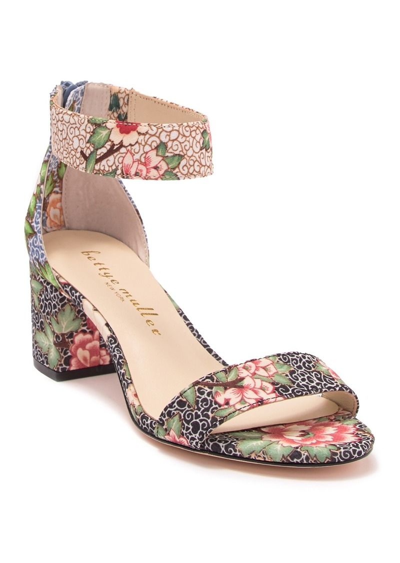 Bettye Muller Tangle Floral Print Block Heel Sandal