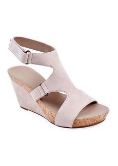 Bettye Muller Tobias Suede Wedge Sandals