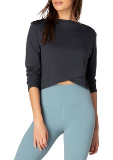 Beyond Yoga Back Out Reversible Cropped Long-Sleeve Pullover
