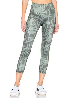 Beyond Yoga Lux Print Walk And Talk High Waisted Capri Legging