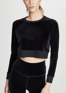 Beyond Yoga Velvet Cropped Pullover