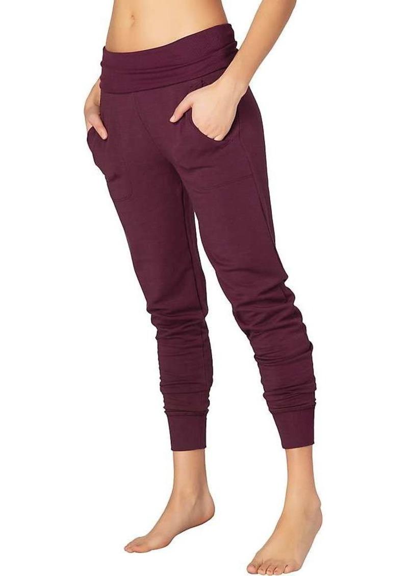 Beyond Yoga Women's Cozy Fleece Foldover Long Sweatpant