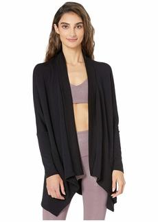 Beyond Yoga Ribbed Draped Cozy Fleece Cardigan