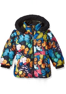 Big Chill Girls' Little Printed Bubble Jacket