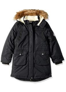 Big Chill Little Girls Sherpa Lined Long Jacket