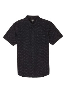 Billabong All Day Fleck Short Sleeve Button-Down Shirt
