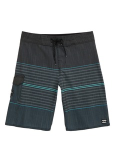 Billabong All Day Pro Stripe Board Shorts (Toddler, Little Boy & Big Boy)