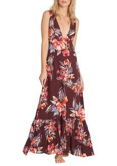 Billabong Awoke for Waves Floral Print Maxi Dress