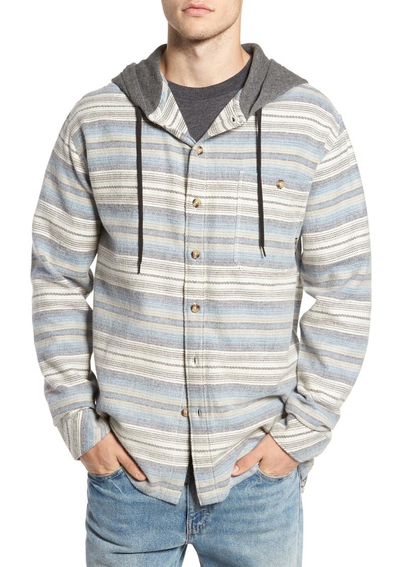 Billabong billabong baja hooded flannel shirt now for Athletic cut flannel shirts