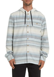 Billabong Baja Stripe Button-Up Flannel Hoodie