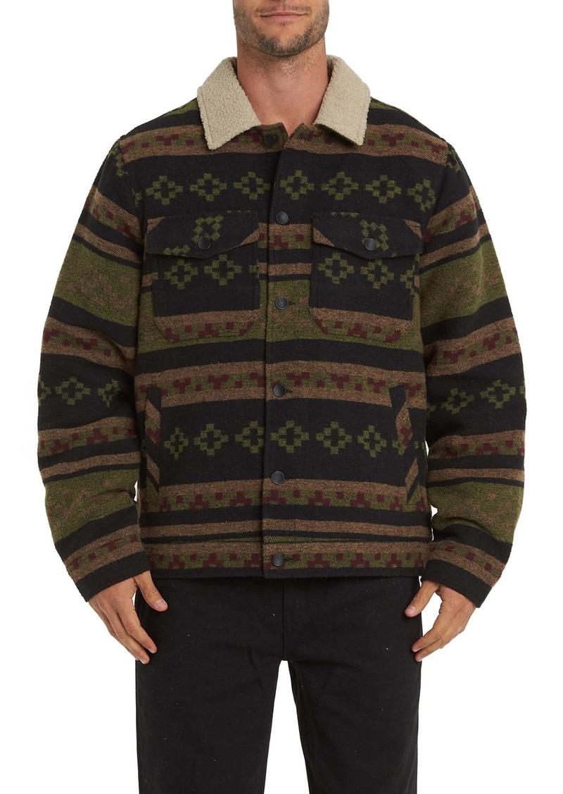 Billabong Barlow Faux Shearling Collar Shirt Jacket