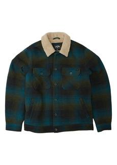 Billabong Barlow Pattern Fleece Button-Up Shirt Jacket