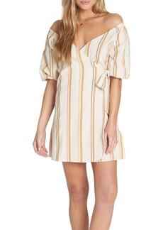 Billabong Best Dressed Stripe Wrap Dress