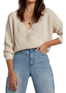 Billabong Bring It Faux Wrap Sweater