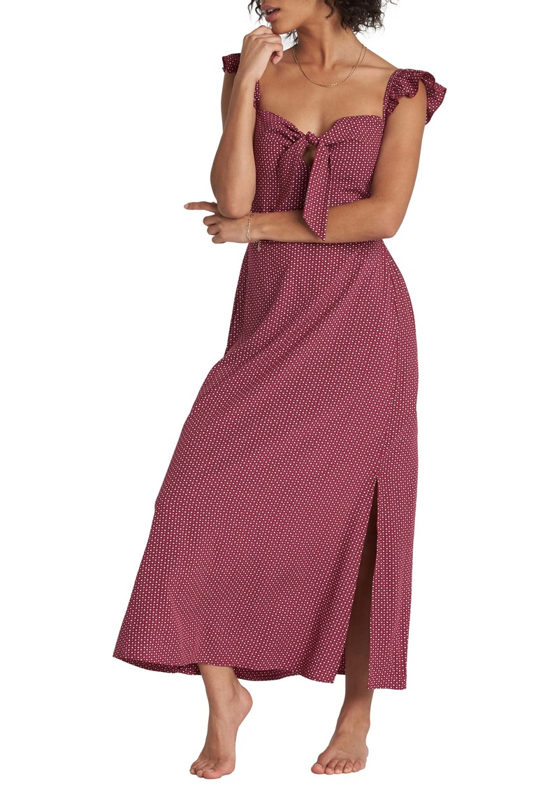 Billabong Cherry Lips Ruffle Strap Maxi Dress