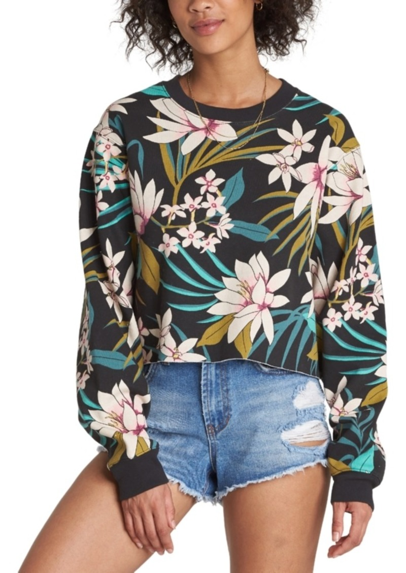 Billabong Chop Up Printed Fleece Sweatshirt