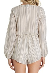 Billabong Coastal Break Stripe Surplice Romper