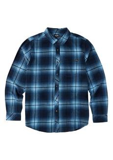 Billabong Coastline Plaid Button-Up Shirt (Toddler & Little Boy)