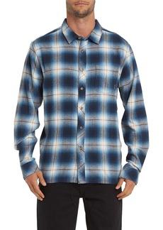Billabong Coastline Plaid Flannel Button-Up Shirt
