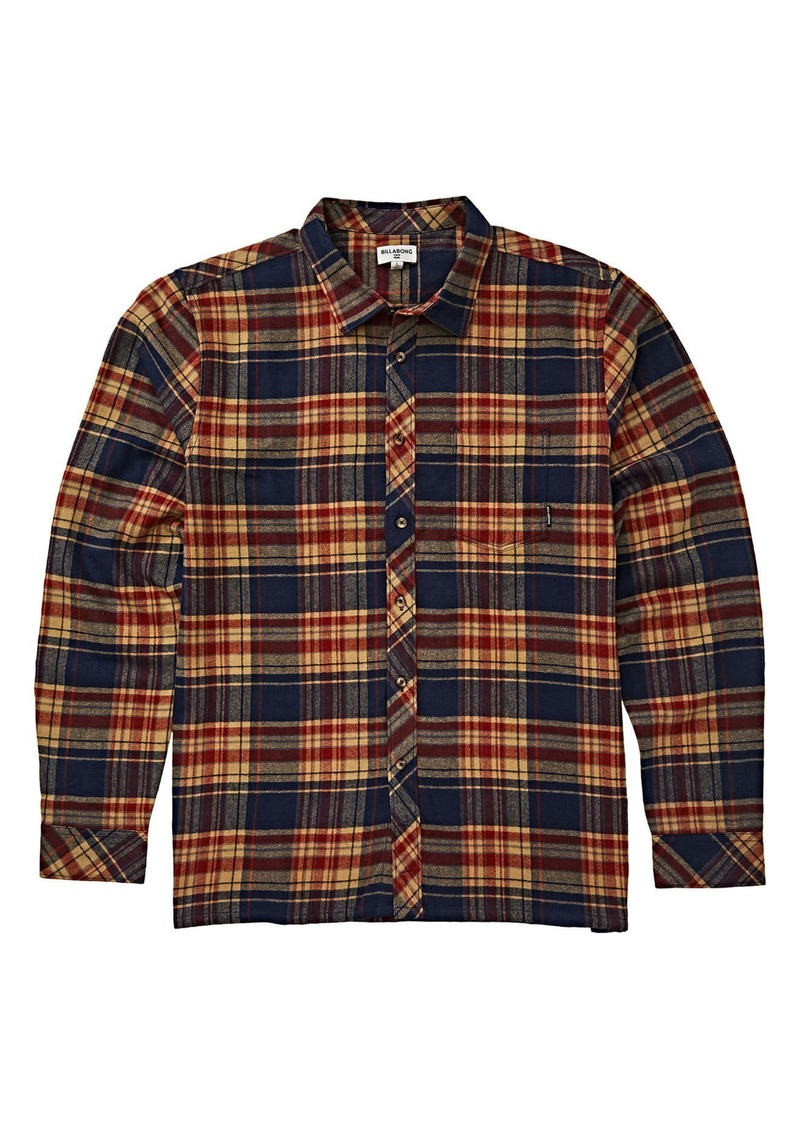 Billabong Coastline Plaid Flannel Shirt (Big Boys)