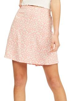 Billabong Crossroads Floral Print A-Line Miniskirt