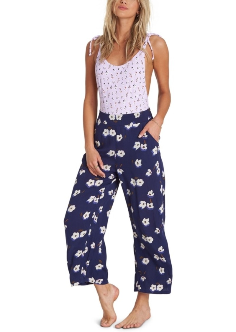 Billabong Cut Through Floral-Print Pants
