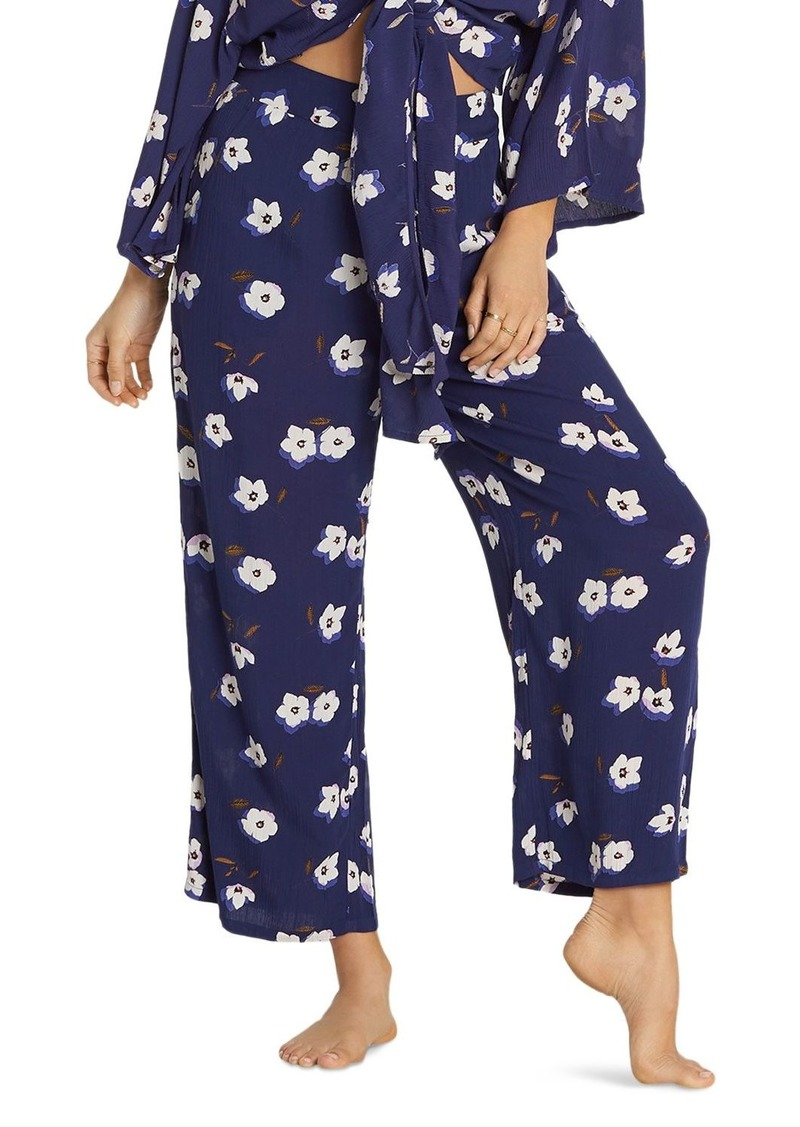 Billabong Cut Through Floral Wide-Leg Pants