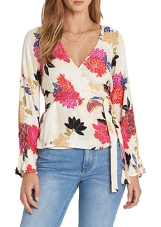 Billabong Daisy Print Wrap Top