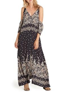 Billabong Desert Dance Cold Shoulder Maxi Dress