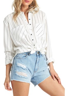 Billabong Easy Movin Tie Front Shirt