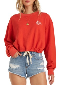 Billabong Faded in the Sun Crop Crewneck Sweatshirt