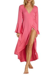 Billabong Flair Fare Long Sleeve Maxi Wrap Dress