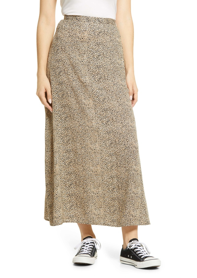 Billabong Flirty Daze Animal Print Crepe Skirt