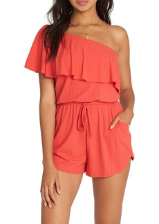 Billabong Follow the Sun One-Shoulder Ruffle Romper