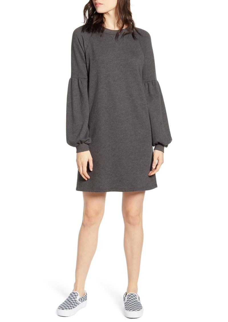 Billabong Free Way Blouson Sleeve Sweatshirt Dress
