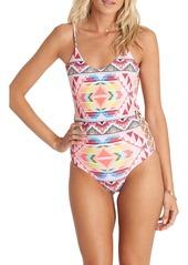 Billabong Geo Print One-Piece Swimsuit